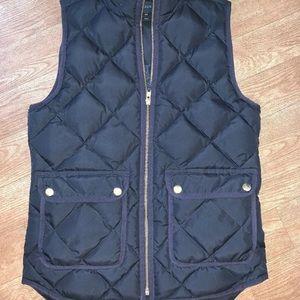 J crew quilted vest